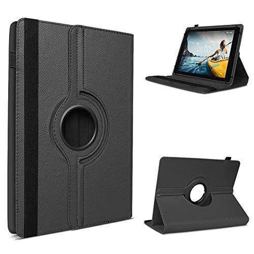 UC-Express Schutzhülle kompatibel für Medion Lifetab E6912 Tablet Tasche Hülle mit Standfunktion 360° drehbar Tablethülle Hülle, Farben:Schwarz