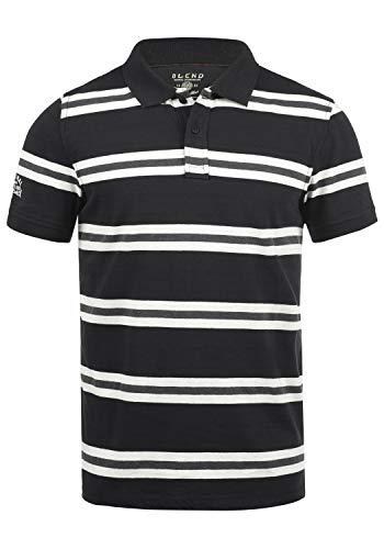 BLEND Pique Camiseta Polo De Manga Corta para Hombre con Cue