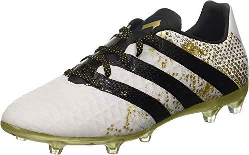 adidas Herren Ace 16.2 Fg Fußballschuhe, Weiß (FTWR White/Core Black/Gold Metallic), 42 EU