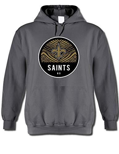 NFL New Orleans Saints Men's Team Graphic Gray Hoodie, Gray, X-Large