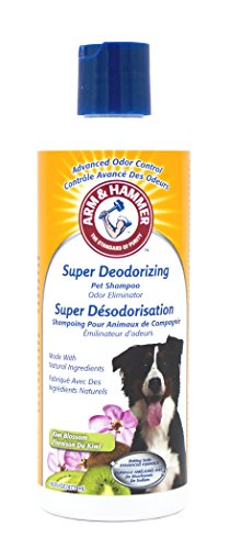 Arm & Hammer Super Deodorizing Shampoo for Smelly Dogs & Puppies, Kiwi Blossom Scent, 16 oz