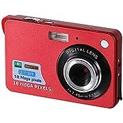 Digitalkamera, CamKing 2,7-Zoll-Digitalkamera, HD-Kamera für Rucksacktouren, Mini-Digitalkamera-Taschenkameras Digital mit Zoom, Kompaktkameras für Fotografie (Rot)