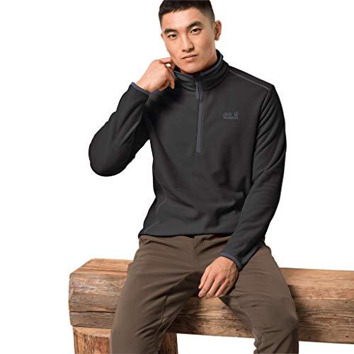 Jack Wolfskin Echo Pullover T-Shirt, Black, M pour Hommes