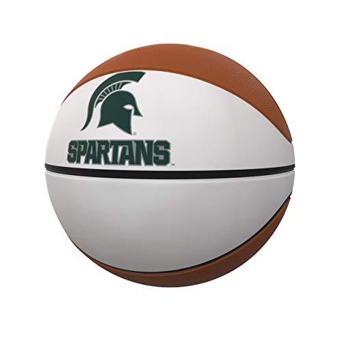 Best Bargain Logo Brands NCAA Michigan State Spartans Unisex Official-Size Autograph Basketball, Tea...