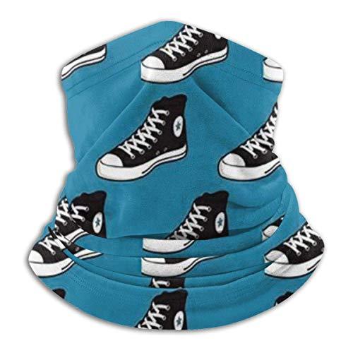 Negro y Blanco Zapatos Zapatillas De Deporte Mujeres Hombres Niños Ajustable Cuello Polaina Tubo Calentador De Oído Deportes Máscara De Cara