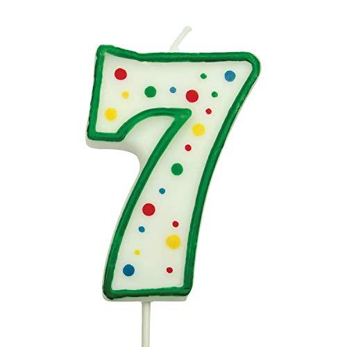 PME Vela Verde de Número 7, Tamaño Grande