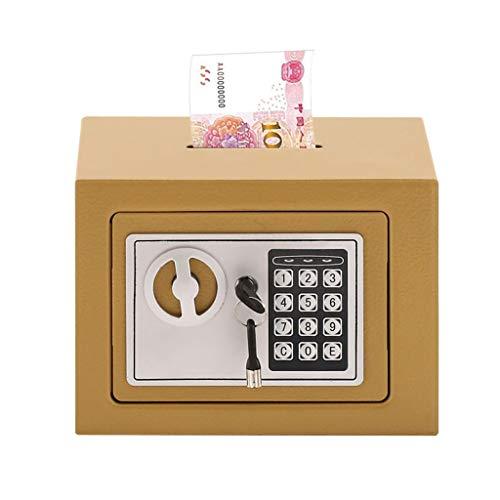 Caja fuerte con monedas Caja fuerte de depósito electrónico con control de la ranura de caída Portaje de etiqueta digital Combinación de teclado Digital Cerradura Cabineta Safe Office Moneda Documento