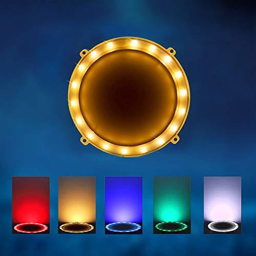 Blinngo Cornhole LED Board Lights, LED Cornhole Lights Meet Regulation Cornhole Boards(4 feet x 2 feet), Waterproof Cornhole LED Lights (Two Set)-Gold