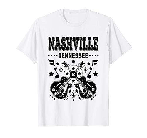 Camiseta Nashville Música Country Ropa Vintage Rockabilly Camiseta