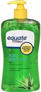 equate aloe with lidocaine