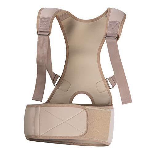 VITALmaxx Rückenkorrektor S/M creme   Verstellbare Träger   Weiches & flexibles Material für besseren Tragekomfort   Zur kurzfristigen Unterstützung der Körperhaltung [Chloropren-Kautschuk]