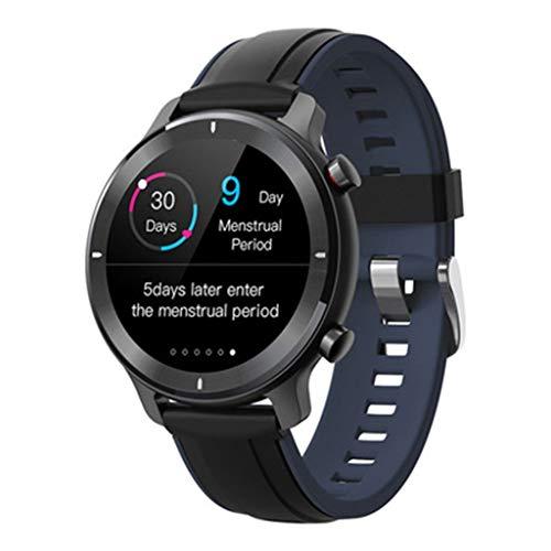 GLJ Relojes Reloj Inteligente, Pantalla Táctil Completa con Reloj Inteligente de 11 Modos Deportivos, IP68 a Prueba de Agua Relojes Inteligentes para Android iOS (Color : Black and Blue)