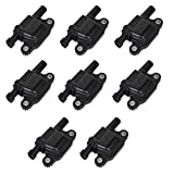 8 Packs 12611424 Ignition Coil Pack Compatible with Chevy Cadillac GMC Pontiac 5.3L 6.0L V8 Engine G8 Grand Prix H3 Tahoe Yukon Silverado Impala Replace # 12570616 12619161 8125706160 33-1192