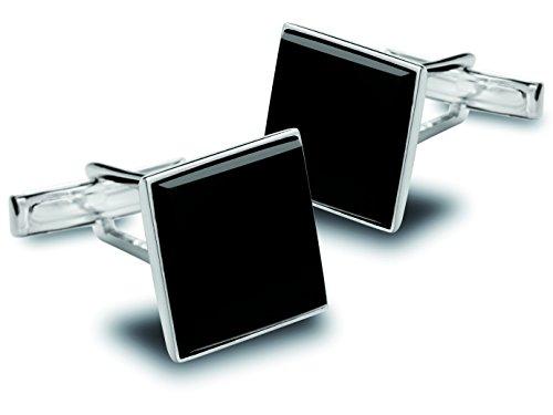 BROOKER Manschettenknöpfe mit quadratischer Onyx-Applikation