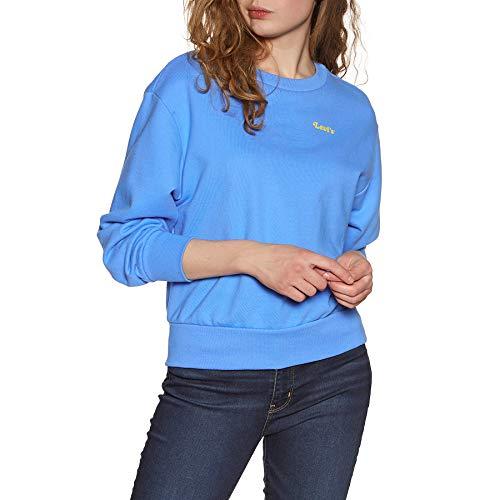 Levi's Lady Luck Sweat-Shirt, Blue (Crew Feminine Logo Marina 0004), X-Small Femme