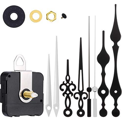 Uhr Motor Bewegung Wanduhr Bewegungsmechanismus DIY Ersatzteile Ersatz mit 3 verschiedenen Paar Händen (Farbe Set 2)