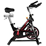 JLL IC400 PRO Indoor Cycling Exercise Bike, Direct Belt Driven 22kg Flywheel, Magnetic Resistance, 3-Piece Crank, 7-Function Monitor, Heart Rate Band Compatible, Adjustable Seat, 12 Months Warranty