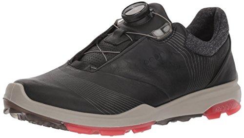 ECCO Damen Biom Hybrid 3 BOA Gore-Tex Golfschuh, Black/Teaberry, 41 EU