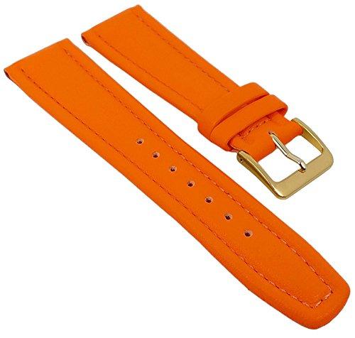 Graf Manufaktur Montana Ersatzband Uhrenarmband Walknappa Band Orange 26376G, Stegbreite:17mm
