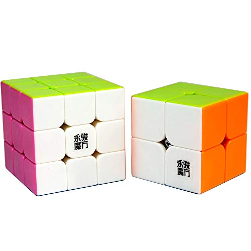 OJIN YongJun YJ Cube Bundle 2x2 3x3 Paquete de Juego Set de Cubos mágicos con empaque de Regalo + Dos trípodes, Colección YongJun Cube(Style-1)
