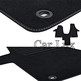 Negro AUTOSTYLE 0142 Alfombrillas de Goma Compatible con Fiat Doblo 2010-/& Opel Combo Cargo 3-Puertas 2011- Perfil T 2-Partes + Clips de Montaje