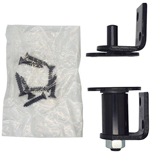 Bommer 7512 Oil Rubbed Bronze/Stain Chrome/Satin Brass/Gloss Black Gravity Pivot Hinge Non-Hold Open- for Louver/Swing/Swinging/Cafe Doors (Gloss Black)