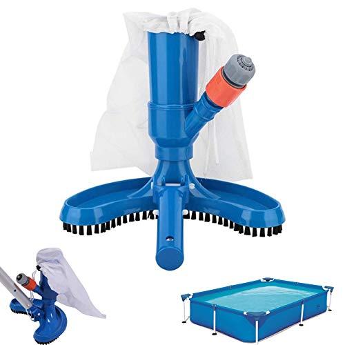 Aspirador De Piscina Portátil Accesorios De Limpieza De Piscinas para Piscina con clip Bolsa piscina Cepillo para la limpieza de la superficie de la piscina Elimina la suciedad Esquinas limpias