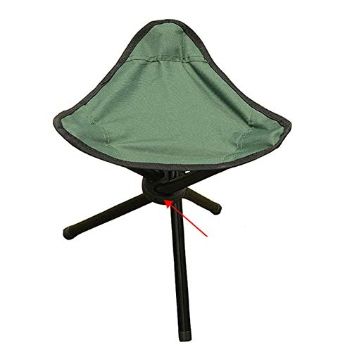 ELQ Folding Tripod Stool, Portable Camp Chair Tri-Leg Stool for Outdoor Camping Walking Hunting Hiking Fishing Travel Support 225 lbs,Green
