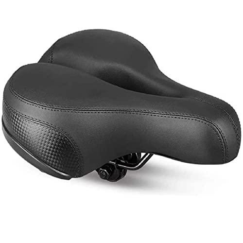 Supply-Mart Breathable Shock Absorbing Mountain Bike Saddle Extra Soft Sporty Foam Cushion Saddle Pad Comfortable Ergonomic Design Reflective Strip Gel Bicycle Seat