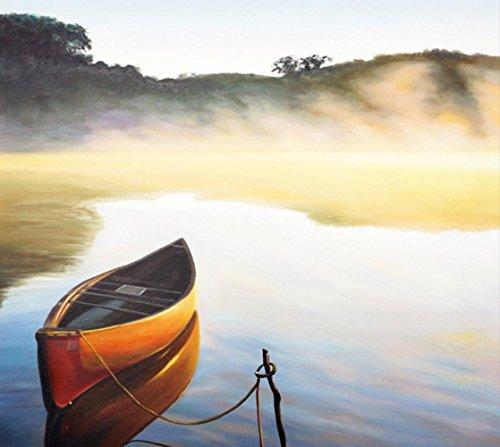 Bel mattino di lago puro dipinti a mano olio pittura decorazione murale soggiorno
