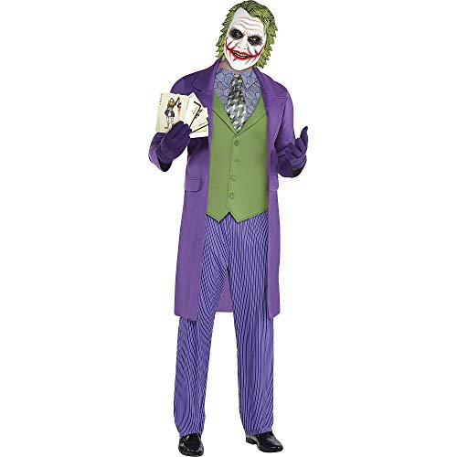 SUIT YOURSELF Joker Halloween Costume for Men, The Dark Knight, Standard Size, Includes Jacket, Mask, and More