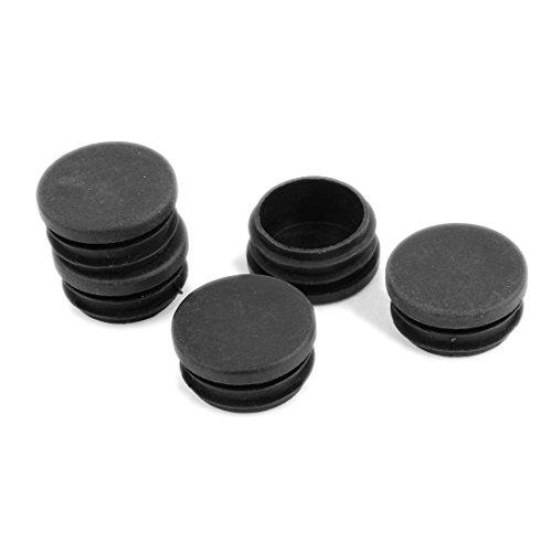 SODIAL(R) Capuchons en Plastique Rond tubage Tube Insert Couvertures 40mm Dia 5 Pcs Noir