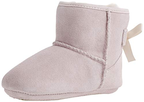 UGG Baby's Female Jesse Bow II and Beanie Boot, Baby Pink, 0.5 (UK)