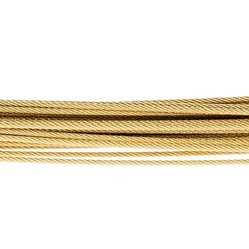 Ernstes Design DS.35GG - Catena in acciaio placcato oro, 35 fili
