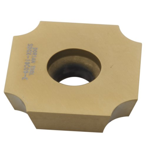 Dorian Tool SDGX Multilayer Coated Carbide Square Convex Milling Indexable Insert, 0.25