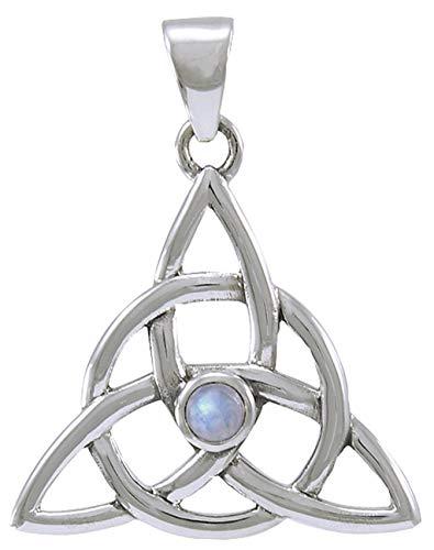 Alterras - Anhänger: Charmed Zeichen mit Mondstein aus 925-Silber