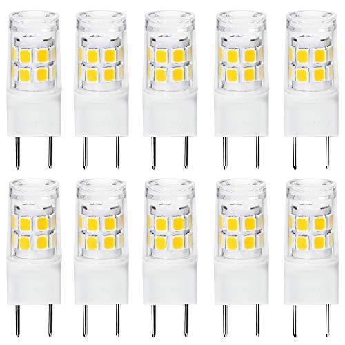 ETHT G8 LED Light Bulb 2.5 Watts Daylight White - G8 Base Bi-pin Xenon JCD Type LED 120V 20W Halogen Replacement Bulb for Under Counter Kitchen Lighting.Pack of 10 (G8 Base Daylight 10PCS)