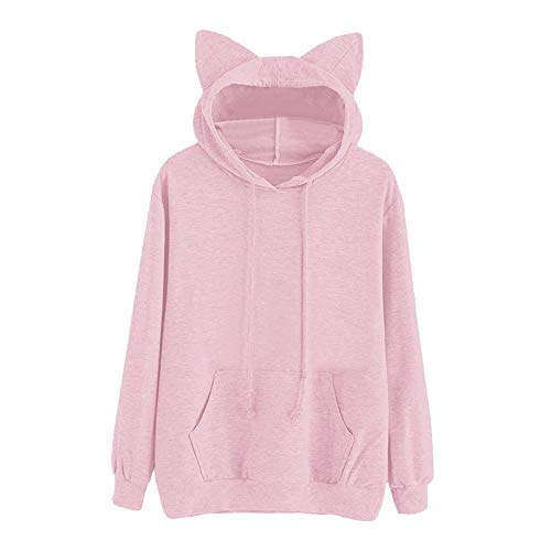 MIRRAY Damen Katzenohren Long Ärmel Hoodie Sweatshirt mit Kapuze Pullover Tops Bluse