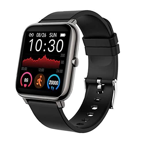 RRunzfon Inteligente Reloj Pulsera rastreador de Ejercicios Actividad podómetro P22 Negro Ritmo cardíaco Impermeable para Hombres, Mujeres Android, Elegante Reloj de los Deportes al Aire Libre