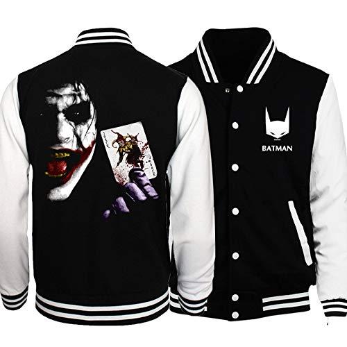 Männer Zip Jacke Sweatshirt - Die Joker Gedruckte Jacken Zip Sweatshirt Baseball Uniform Langarm Fluganzug - Teen Geschenk A-Large