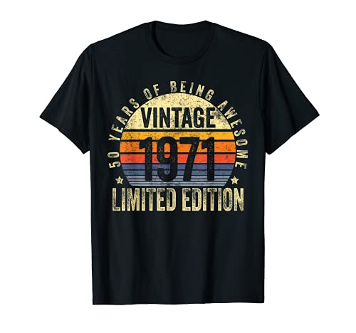 50 Year Old Gifts Vintage 1971 Limited Edition 50th Birthday Camiseta