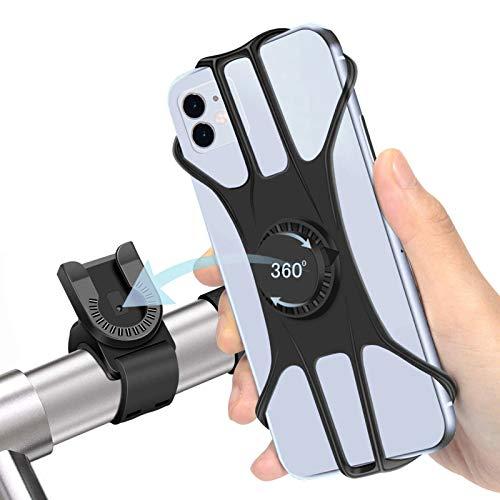Loveternal Handyhalterung Fahrrad 360 ° Drehen Abnehmbar Silikon Handyhalter Fahrrad für Huawei p30 Lite/p30 Pro,iPhone 11 Pro/SE/XR/8/7, Samsung Galaxy s10/s10e/s20/a51,Allen 4,7-7,5 Zoll Smartphone