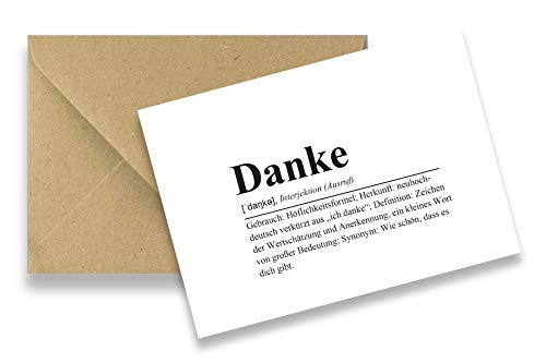 Friendly Fox Dankeskarten - 12 Dankeschön Karten - Danke Definition - Blanko Karten Danke Karten Set mit Umschlägen - mit Karten Danke Sagen