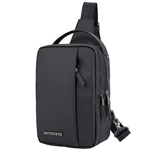 ZhHaoXin Motion Schultertasche Quadratische 9-Zoll-Tablet-Tasche Für Männer Umhängetasche Oxford Tuch Sport Messenger Bag Herren Brusttasche Outdoor-Taschen, Black