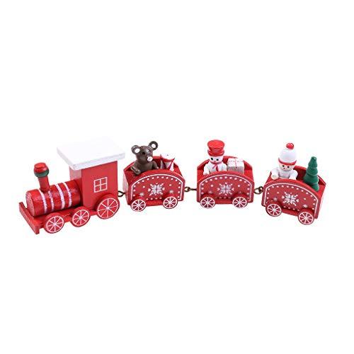 UKtrade 2020 Navidad pintado tren de madera Navidad mejor decoración de la casa decoración