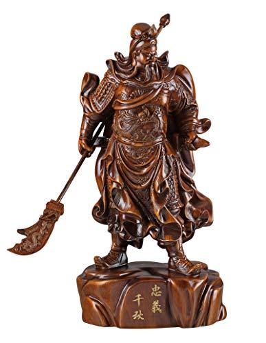 """We pay your sales tax Feng Shui 18"""" Tall Large 6lb Chinese Guan Yu/Guan Gong Warlord Statue Hold Knife Cuan Yu Gong/Kwan Kung/Guangong M30MH"""