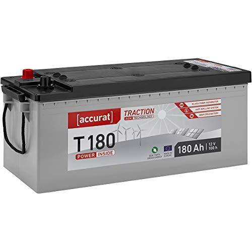 Accurat 12V 180Ah AGM Solarbatterie in 6 Varianten Versorgungsbatterie Zyklenfest