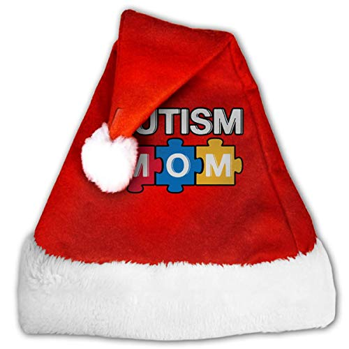 Neoqwez Personalisierte Weihnachten Schneeflocke Kappe Autismus Mutter - Autismus Bewusstsein Santa Cap für Urlaubsfeier