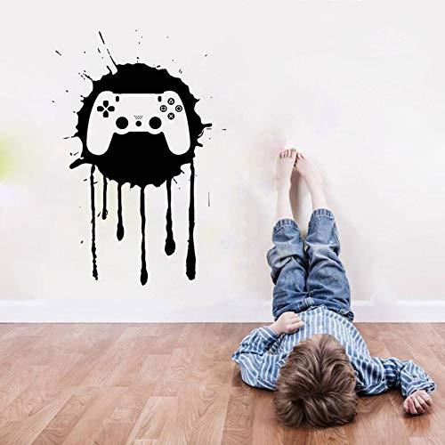 Tianpengyuanshuai Muursticker Gamers Teen Room Home Decoratie Splash Ink muurschildering Vinyl muurtattoos