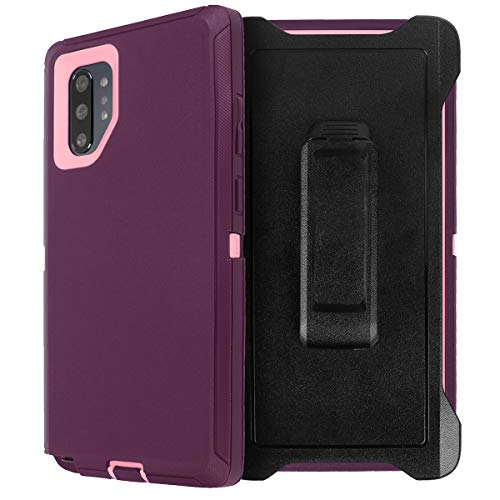 AICase for Galaxy Note 10 Plus Belt-Clip Holster Case, Full Body Rugged Heavy Duty Case with Screen Protector, Shock/Drop/Dust Proof 3-Layer Protection Cover for Samsung Galaxy Note 10 Plus